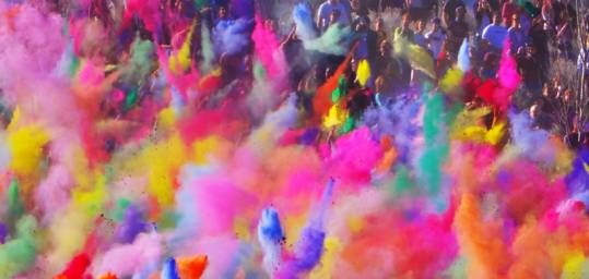 The Beautiful Brightly Coloured Powder Paints Of Holi India S