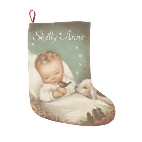 Personalize baby jesus small christmas stocking popular personalize baby jesus small christmas stocking baby gifts child new born gift idea diy cyo special unique design negle Image collections
