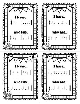 I Have... Who Has? Rhythm Game for Elementary Music