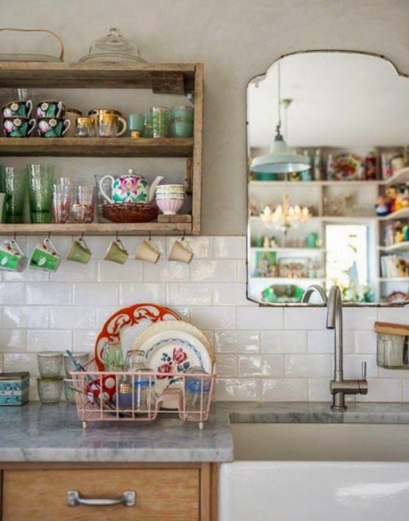 Espejos sin marco 39 vintage 39 o actuales para decorar tus for Decoracion paredes cocinas modernas