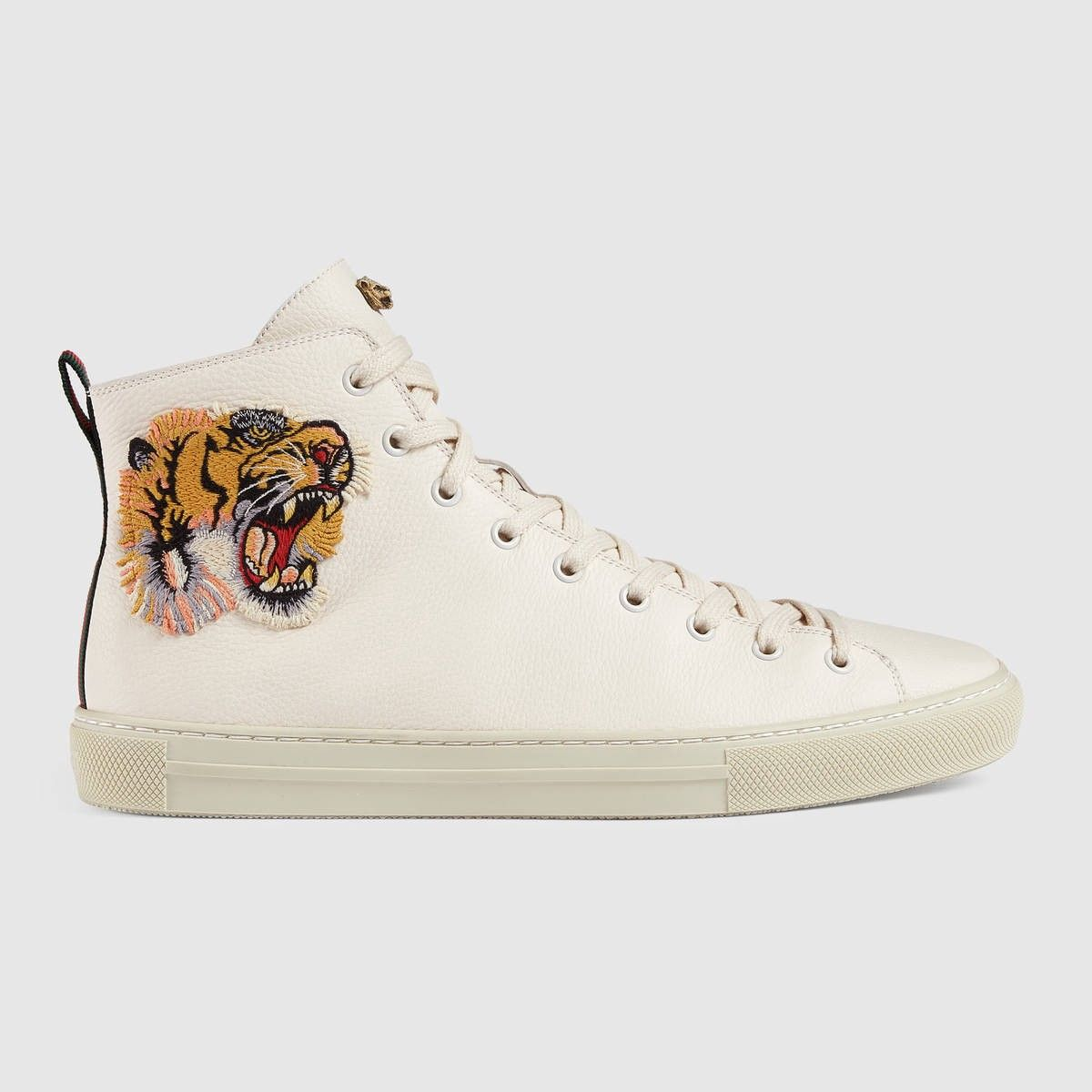 9df80526858 Gucci for Men. GUCCI Leather high-top with tiger - white leather.  gucci   shoes