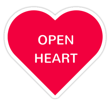 Open Heart Also Buy This Artwork On Stickers Apparel Phone Cases And More Stickers Redbubblestickers Redbubble Laptopstickers