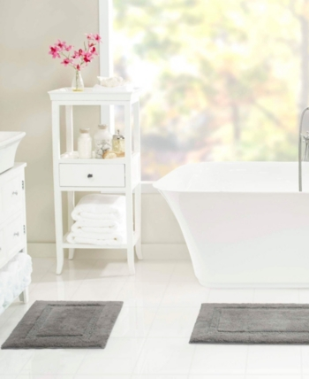 Nautica Peniston Bath Rug Set Gray Bath Rugs Sets Mattress Furniture Rug Sets