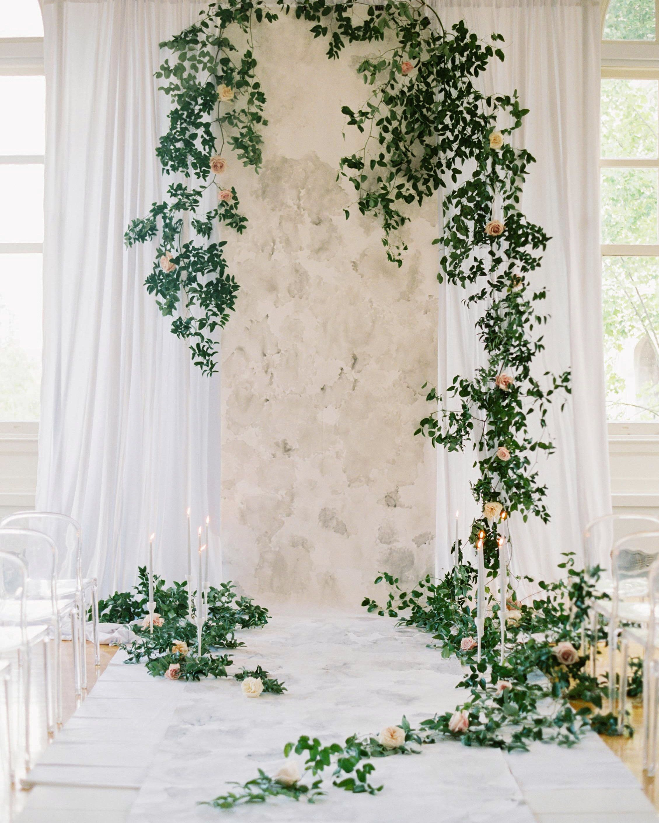 Creative Wedding Backdrop Ideas To Consider For Your Own Ceremony Wedding Ceremony Decorations Wedding Ceremony Backdrop Indoor Wedding Ceremonies