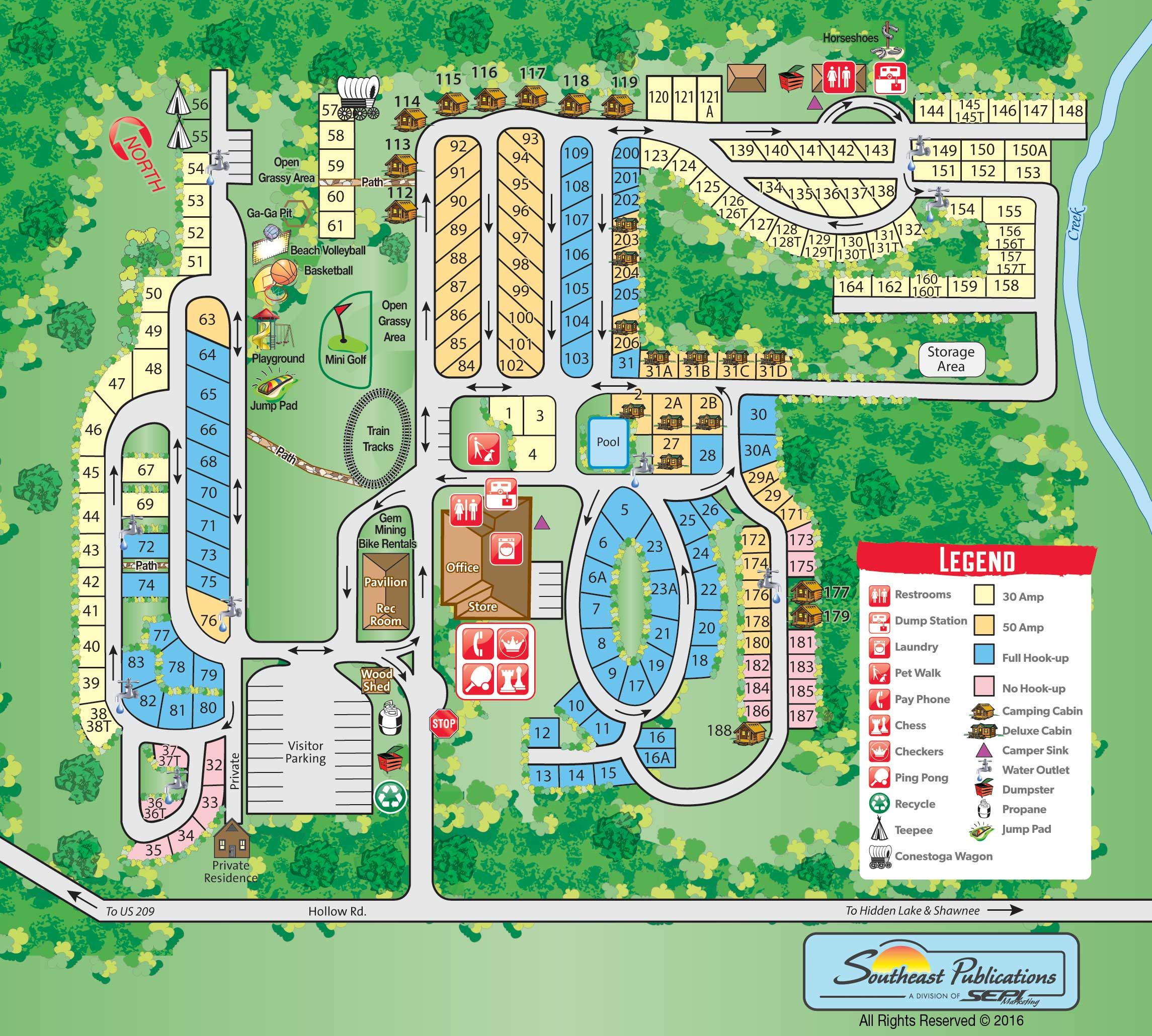 Campground Site Map | Campsite | Delaware water gap, Best ... on