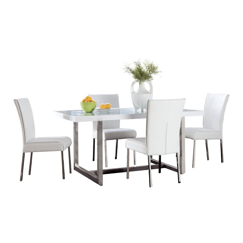 Baraga 5 Pc Dining Package Wg R Furniture Color Crush Black