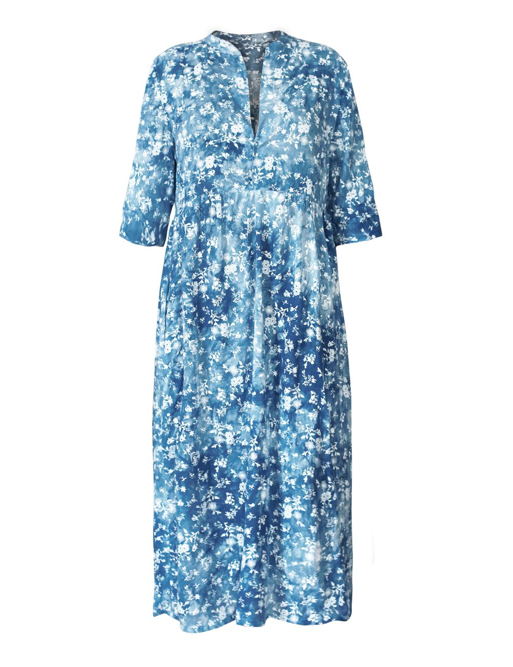 blaues kleid mit blumen | blaues kleid, kleider, lange kleider