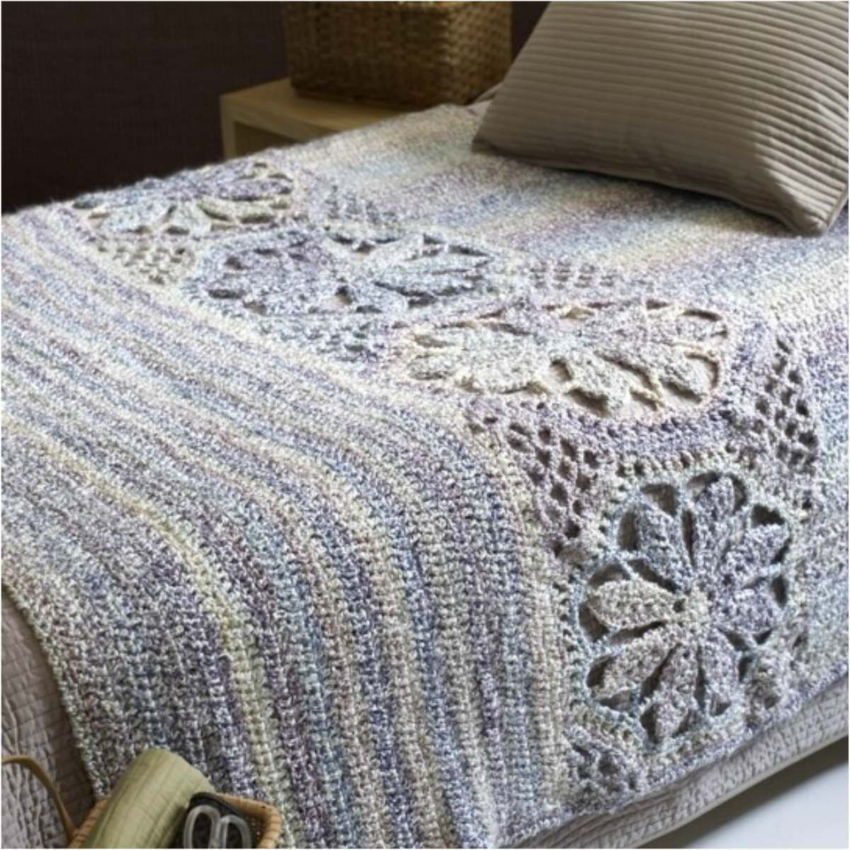 magnolia-afghan-free-crochet-pattern-fb | crochet | Pinterest ...