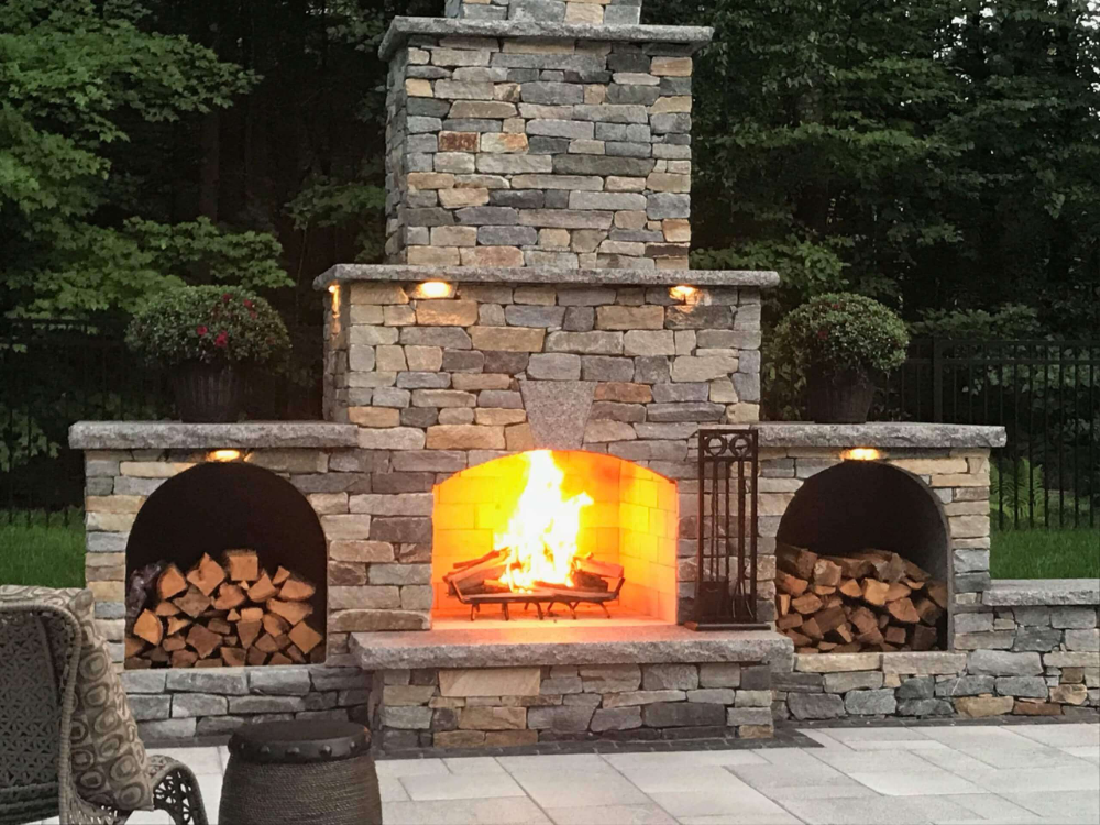 Outdoor Fireplace Kits In 2020 Outdoor Stone Fireplaces Outdoor