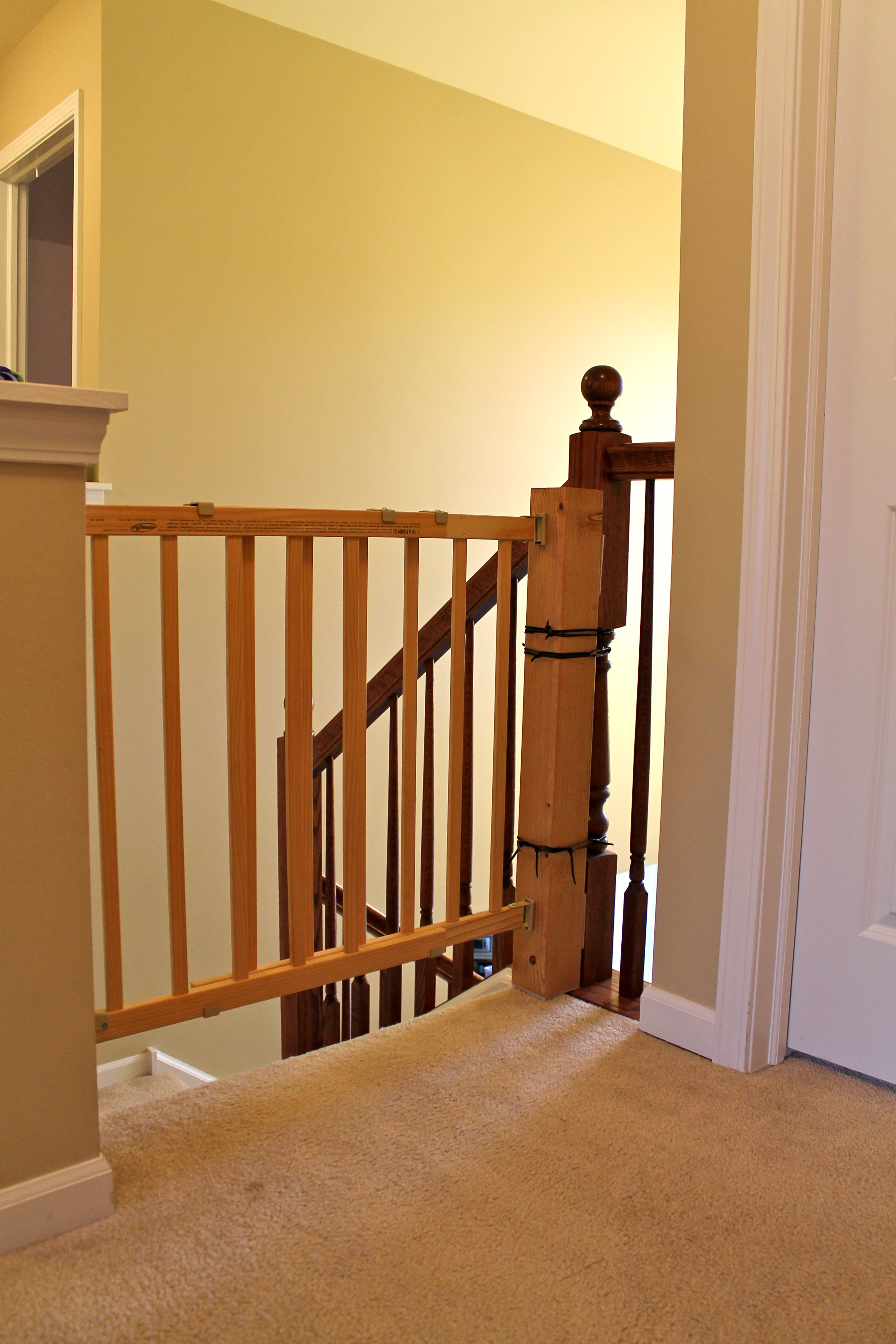 how to install a stair safety gate without ruining your