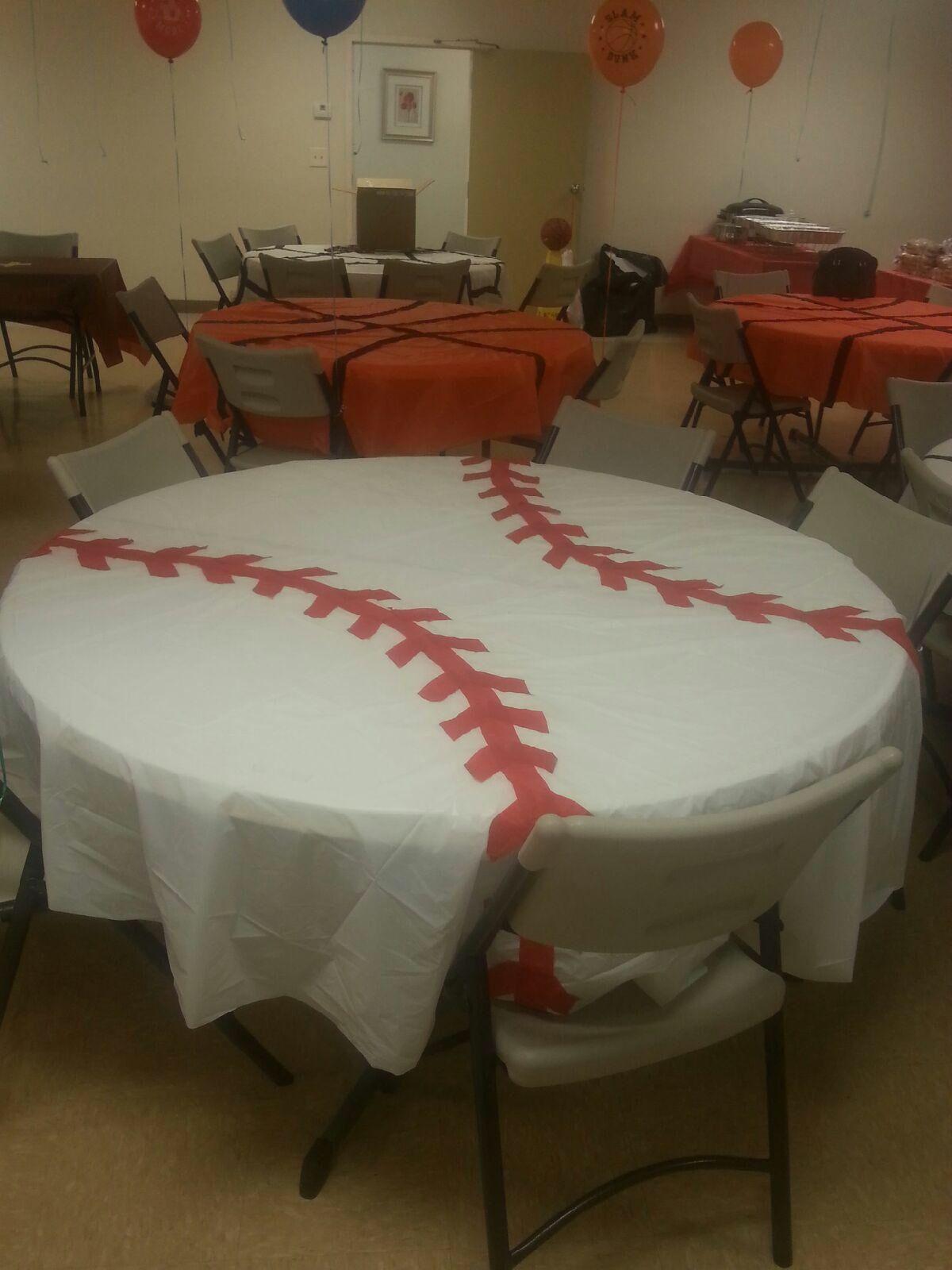 Baseball Table Cloth Party Softball Party Sports