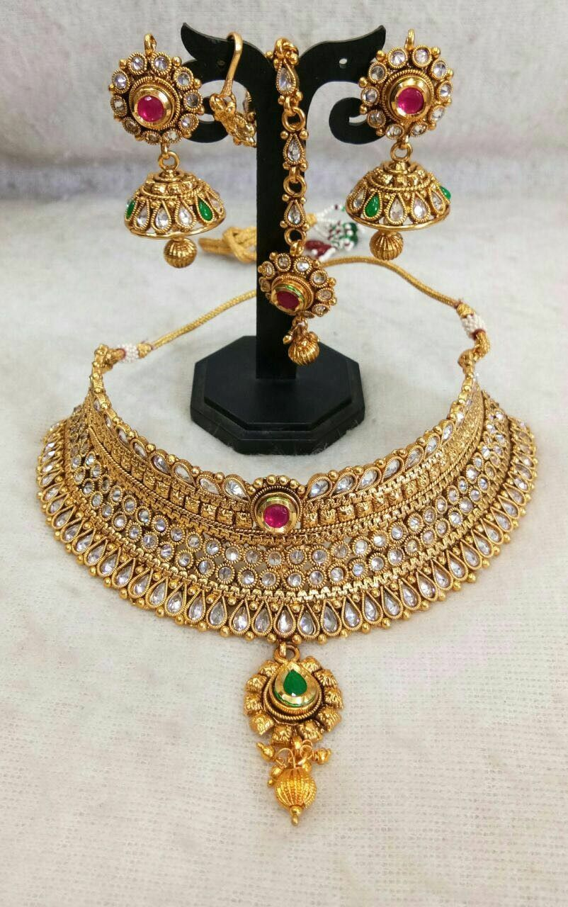1650 traditional indian heavy bridal necklace sets in
