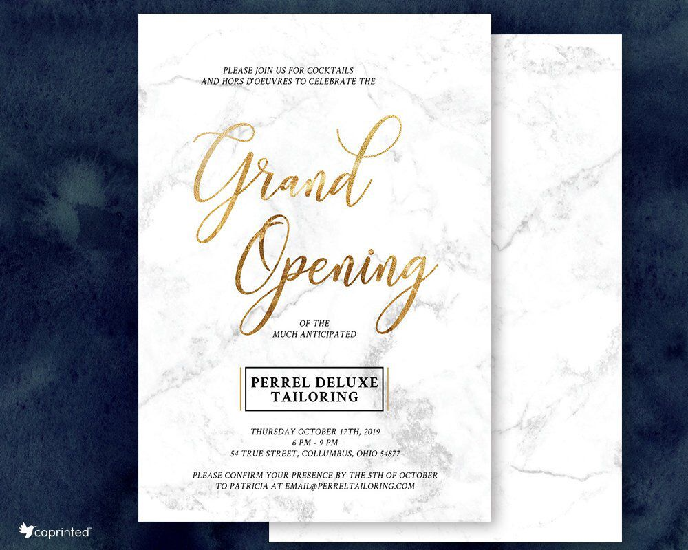 Grand Opening Invitations Corporate Party Company Event Business