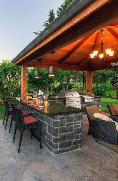 Top 50 besten Backyard Outdoor Bar Ideen – Cool Bewässerung Löcher - Mann Stil   Tattoo