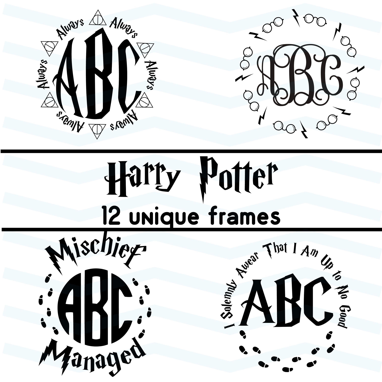 Harry Potter Round Frames Svg Sorting Hat Svg Snitch Svg