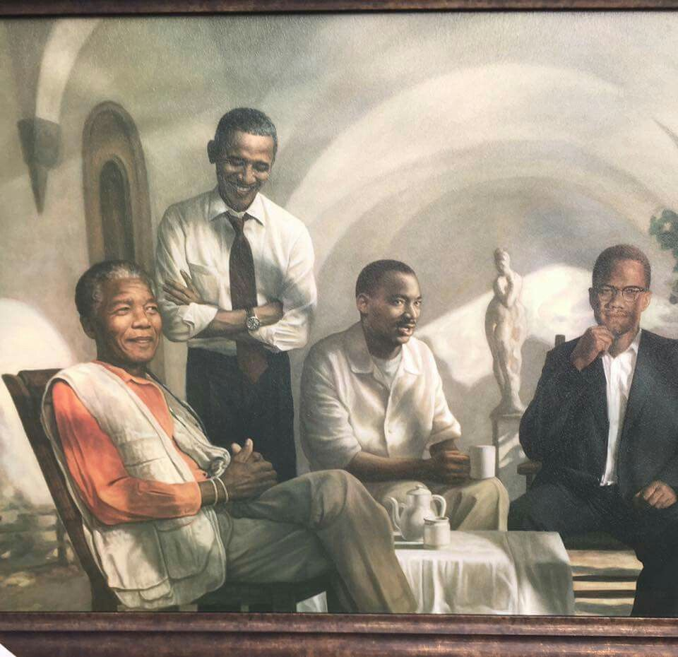 Four Greats Obama Mlk Malcolm X African American Art Black Love Art Black Art Pictures