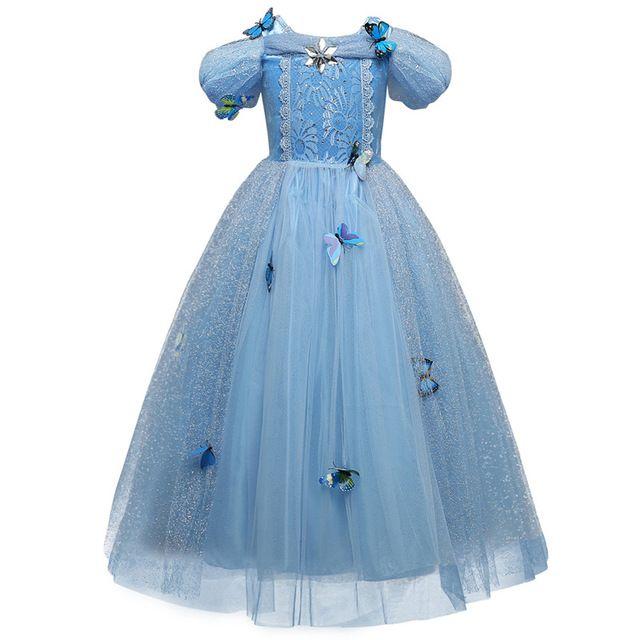HOT Elsa Dress for Girls Dresses Teenagers Dress Butterfly Anna Elsa Princess