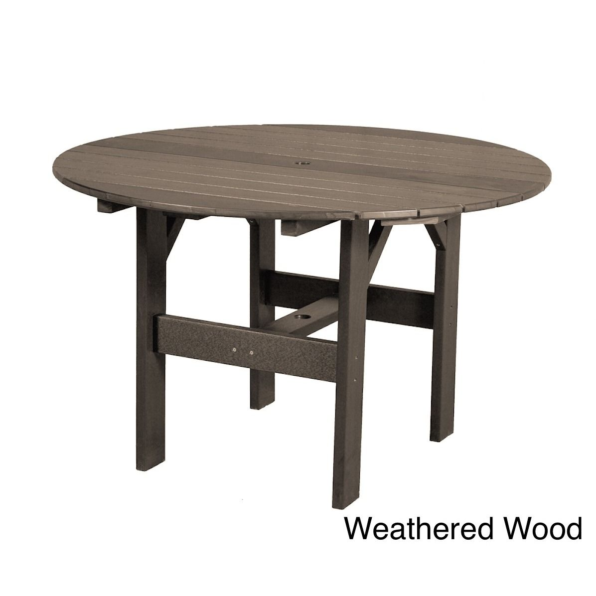 Somette Terra Poly Lumber Outdoor 46 X Inch Round Table