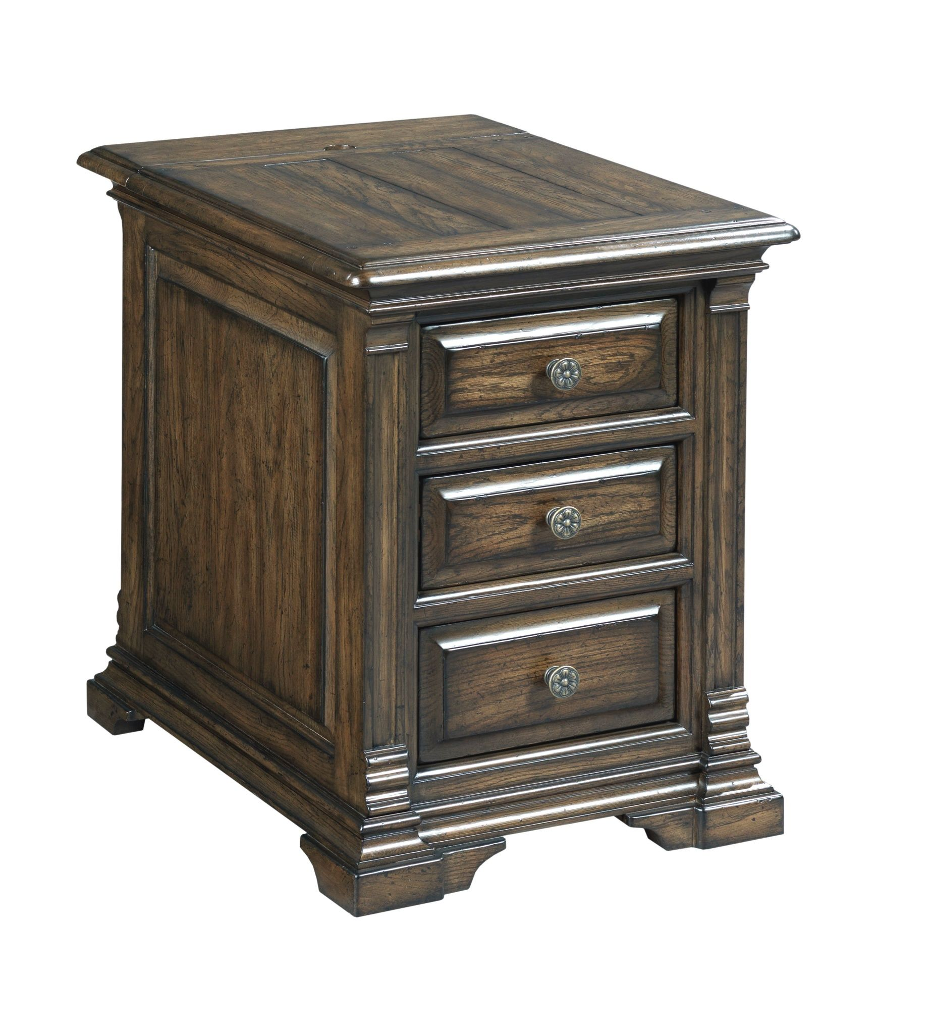 Solid wood bedside table from the Berwick Court collection by Kincaid. New for #hpmkt Spring 2015.