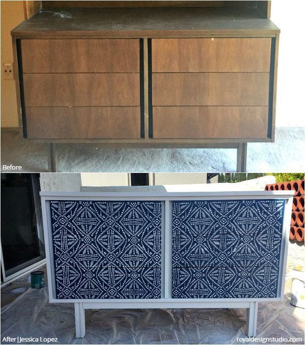 Before After Stencil Project Winners Diy Furniture Redo Stencil Furniture Painting Furniture Diy