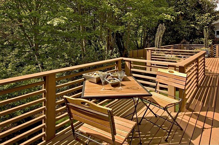 horizontal+deck+railing+ideas Back deck with horizontal
