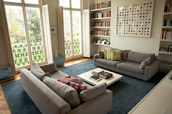 Kleines Wohnzimmer Einrichten Deckenhohe Fenster