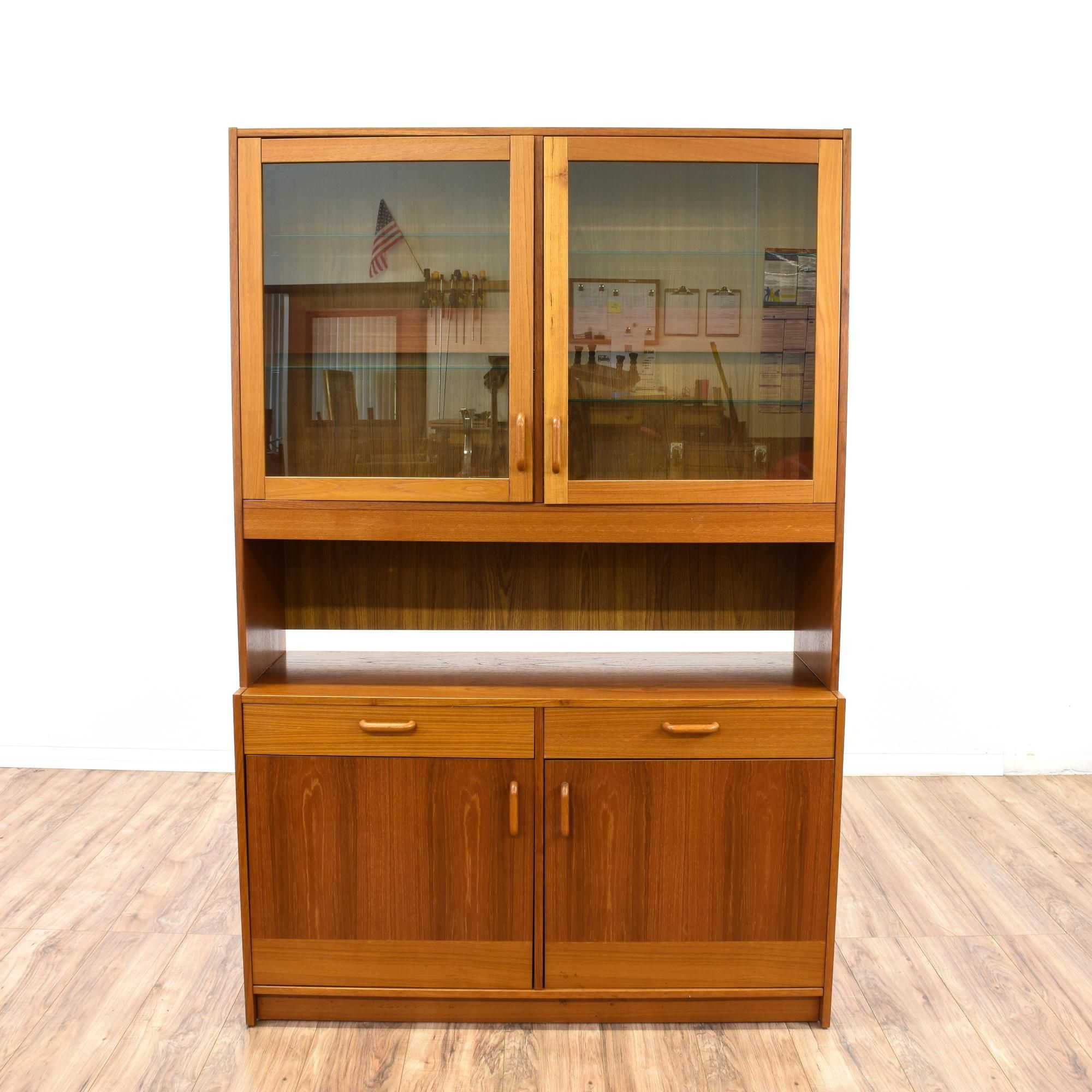 wood desk hutch solid bell inside home computer cabinet storage armoire