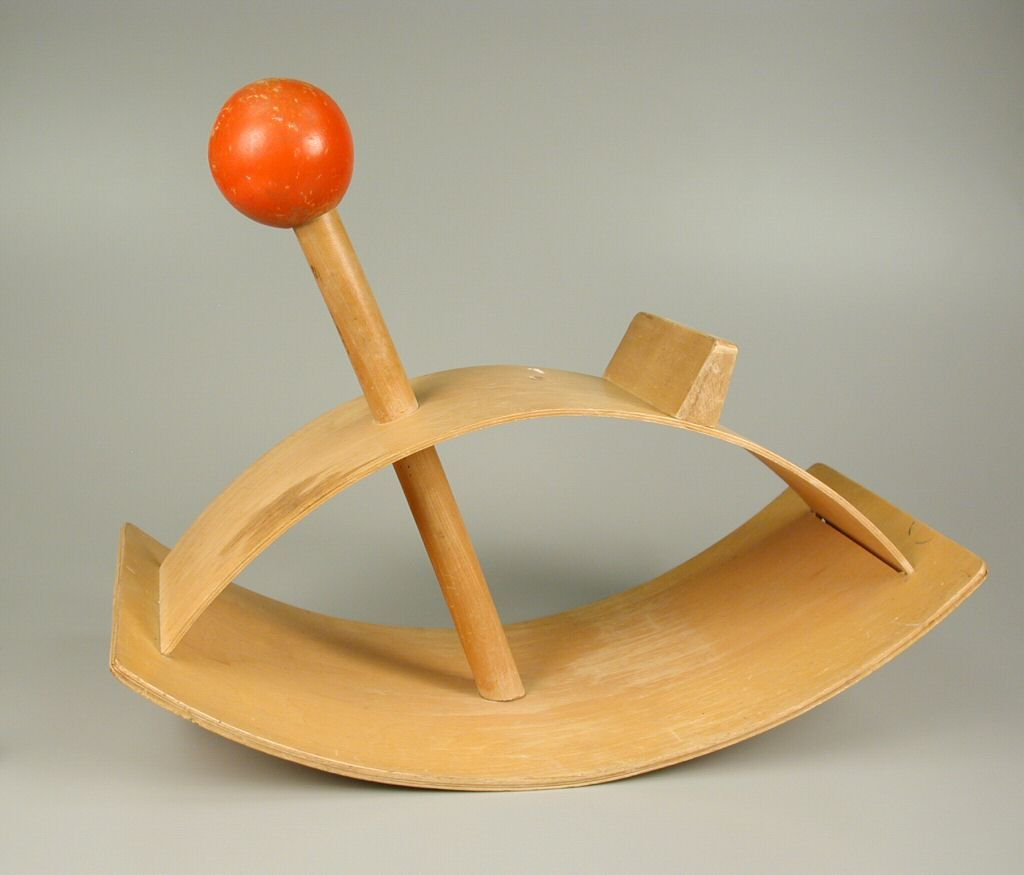 modern eames style rocking horse  red ball rocking  -  modern eames style rocking horse  red ball rocking horse rocking