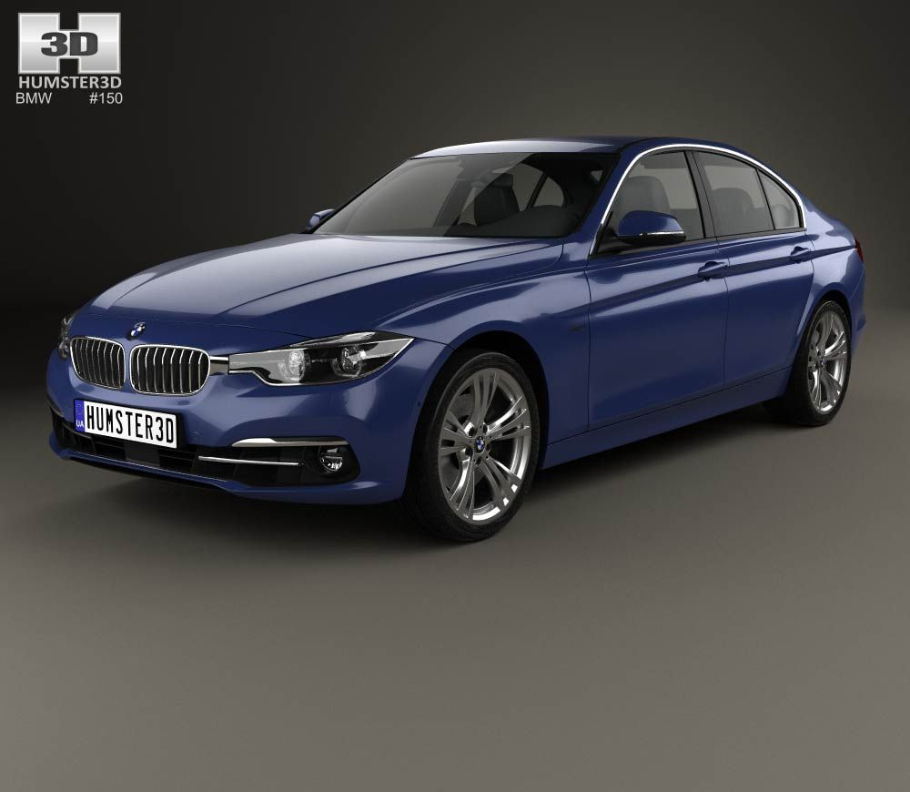 BMW 3 Series (F30) Sport Line 2015 3d Model From Humster3D.com.