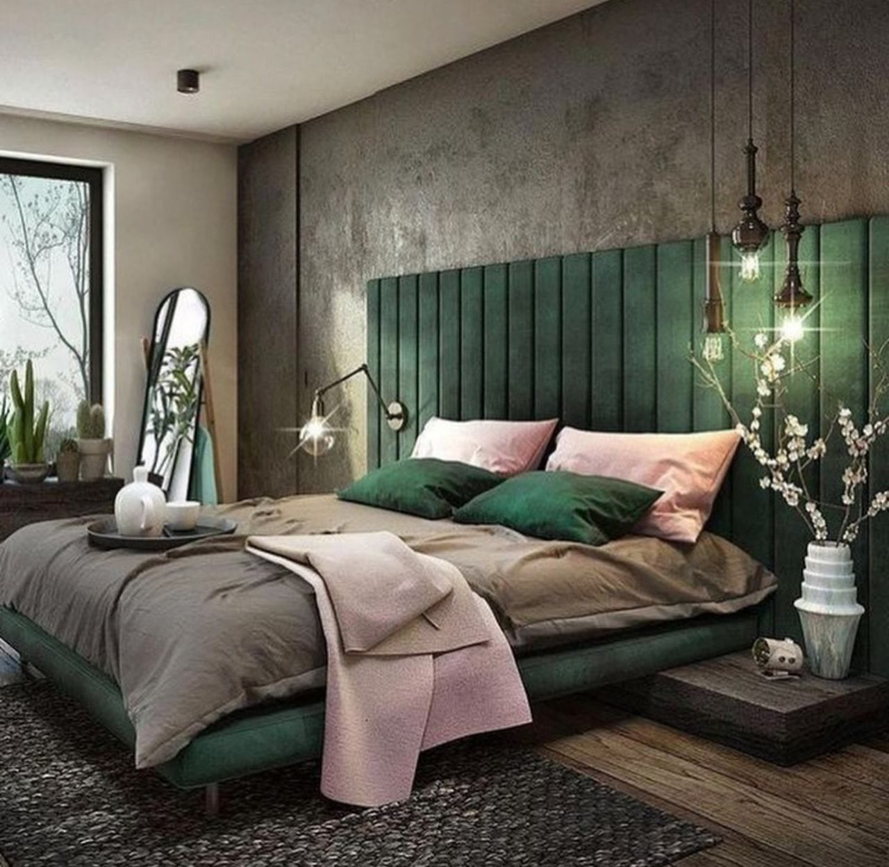 Alte Bettdecken Wohin Bedroom In 2020 | Green Bedroom Design, Bedroom Green ...