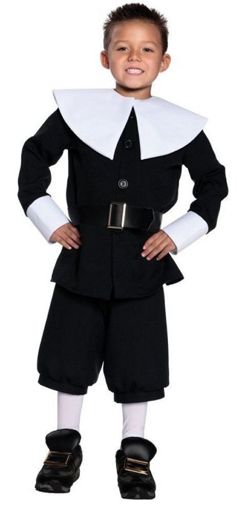 Colonial Thanksgiving Pilgrim Boy Costume