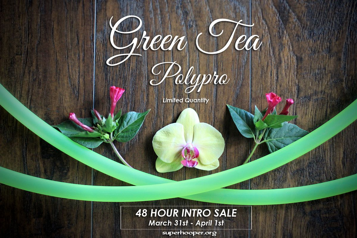 Our newest addition to the color polypro family! GREEN TEA! http://www.superhooper.org/store/c3/Polypro_Hoops.html