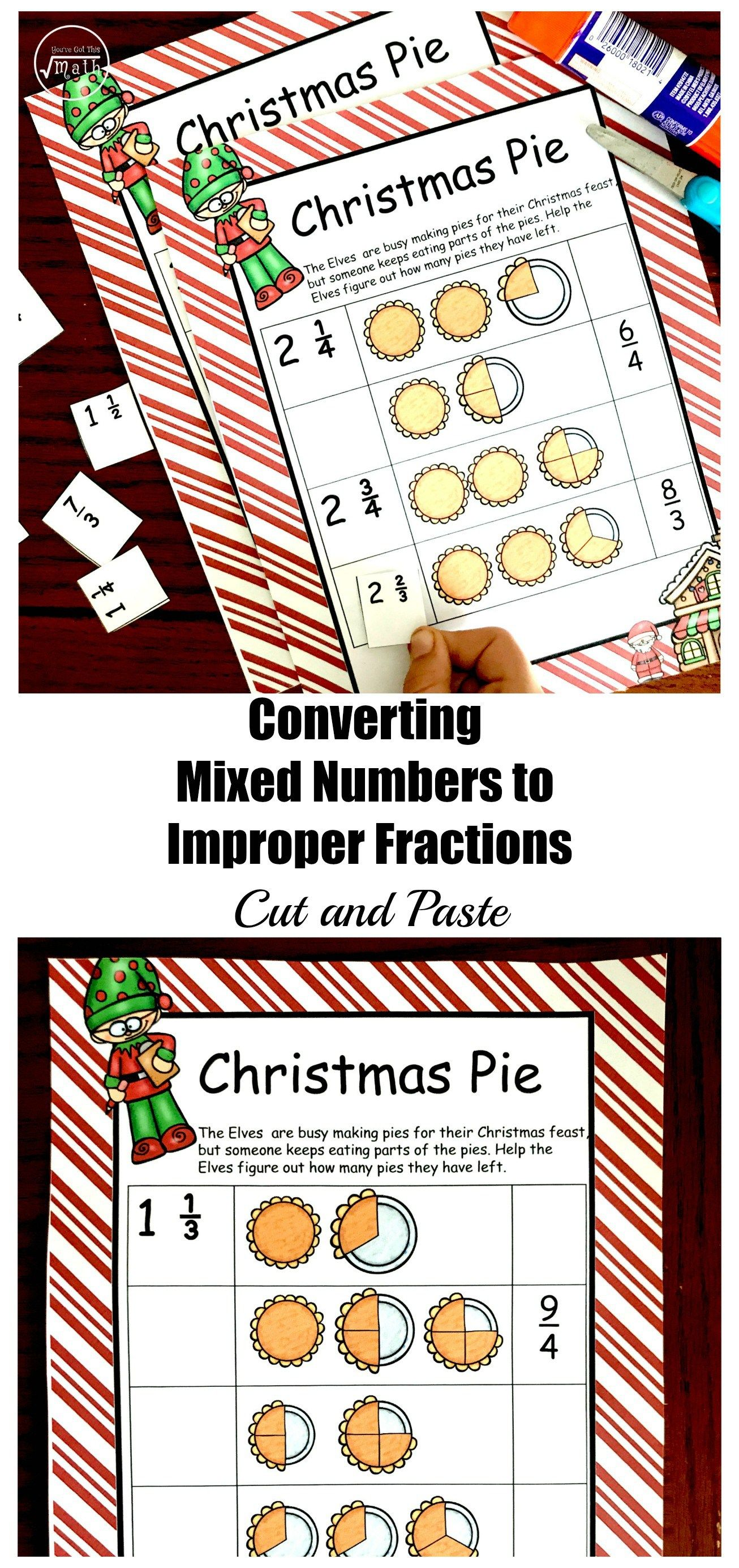 Free Converting Mixed Numbers To Improper Fractions Worksheet