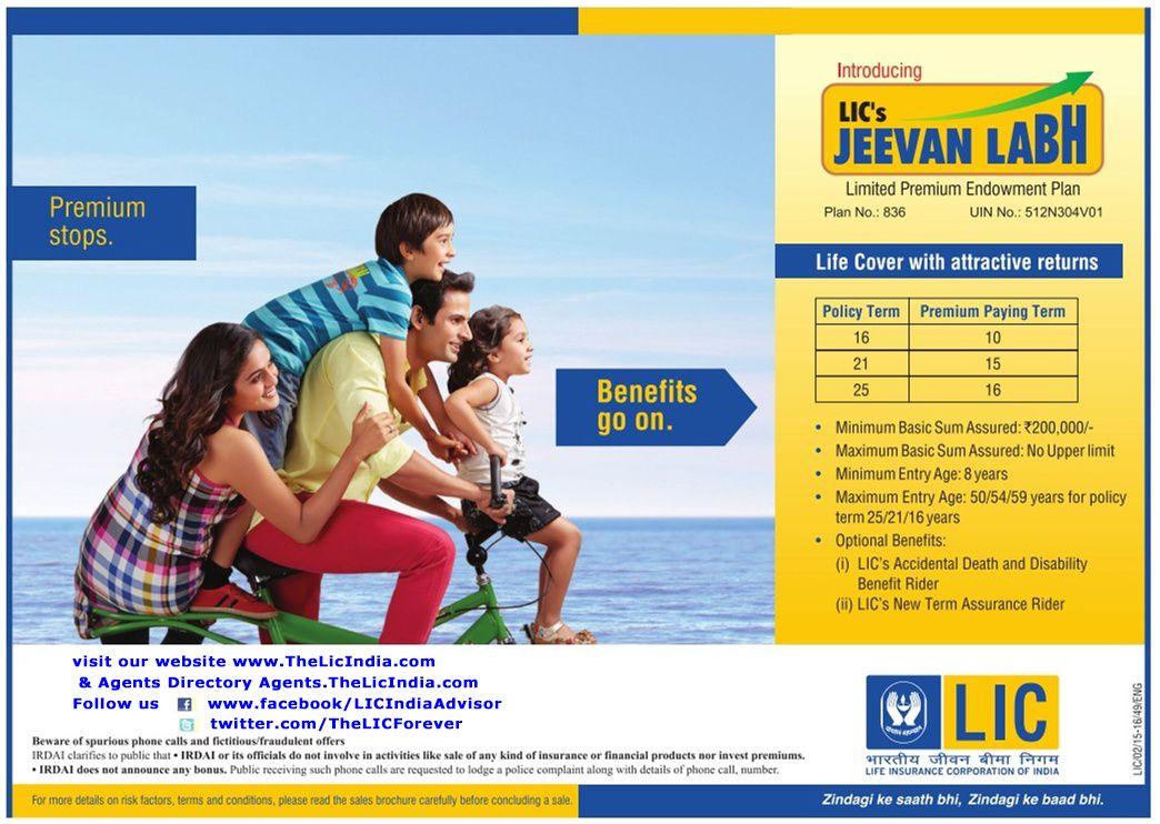 Pin by LIC HELPLINE on LIC's Jeevan Labh Life insurance