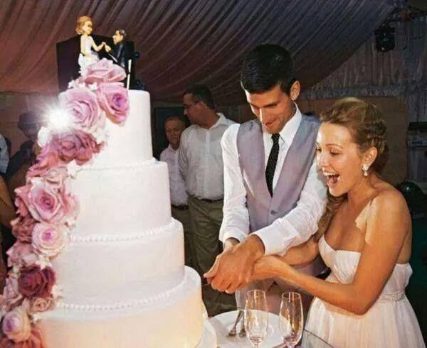 Congrats To Jelena Novak Djokovic Onnn Their Wedding Jelena Djokovic Novak Djokovic Tennis Professional