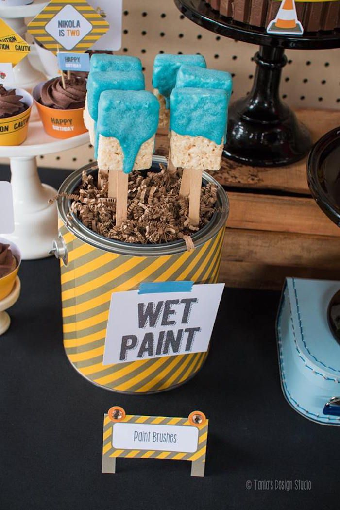 Paint Brush Party Pretzels Lets Party Pinterest Pretzels - Camping party favors housewarming party pinterest