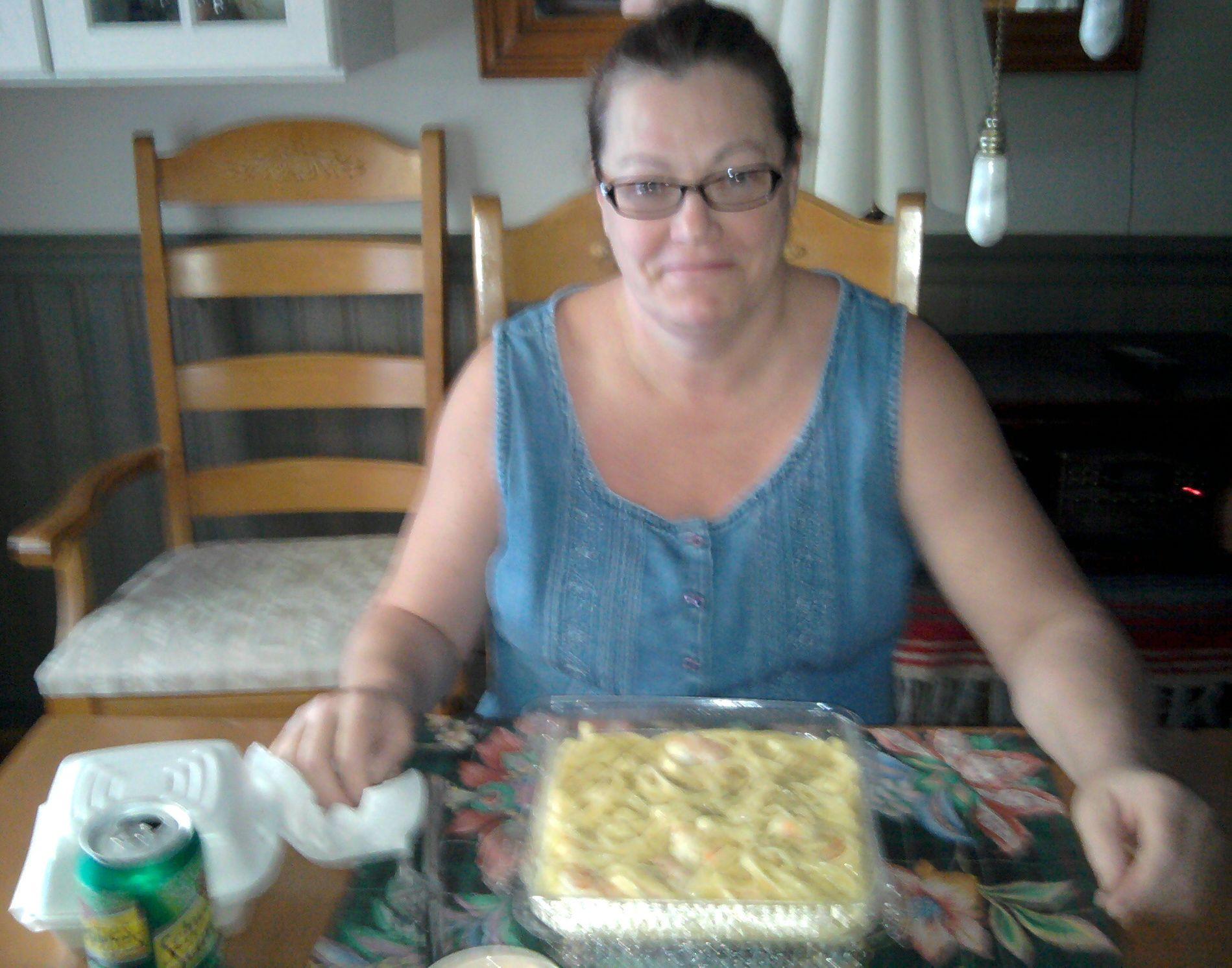 Sis @Arlene Ballard Enjoying Her Dinner From Bay Breeze Seafood Restaurant 1830 Asheville Hwy. Hendersonville, NC 28793 Tel: 828-697-7106