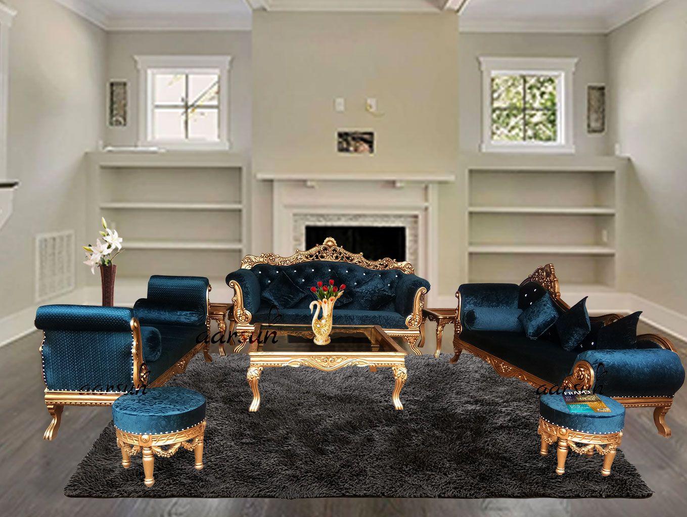 Best Living Room Luxury Teak Sofa Set YT-63 in 2020 ...