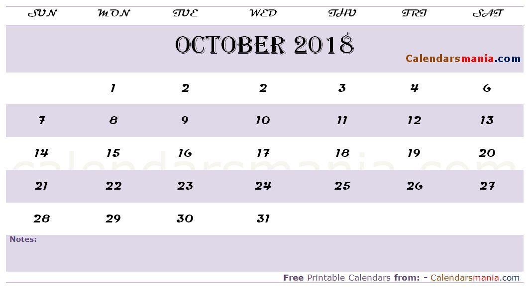 October 2018 Calendar Tumblr October 2018 Calendar Pinterest