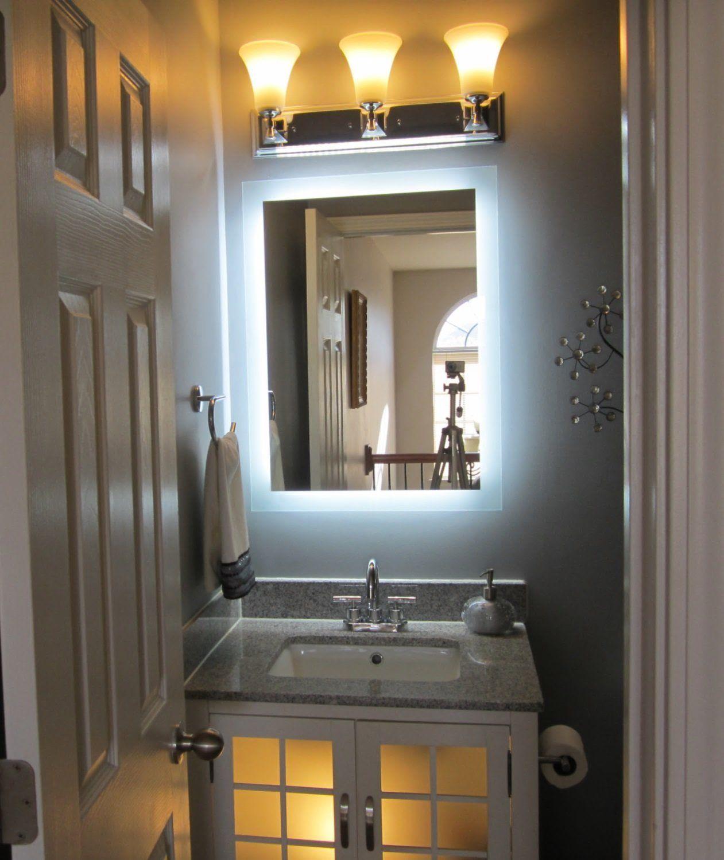 """FrontLighted LED Bathroom Vanity Mirror 32"""" Wide x 48"""