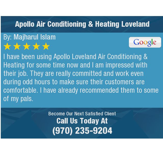 I Have Been Using Apollo Loveland Air Conditioning Heating For Some Time Now And I Am Dental This Or That Questions Home Inspection