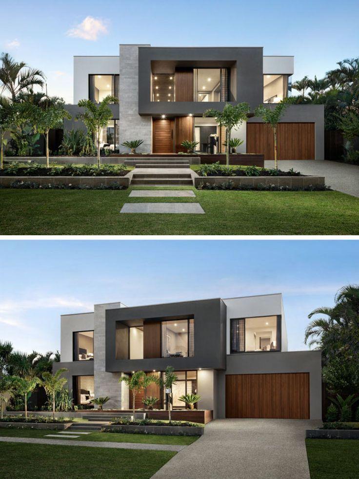 Das Design von 'The Riviera' konzentriert sich auf das Leben im Innen- und Außenbereich und auf Platz für Unterhaltung #modernlandscapedesign