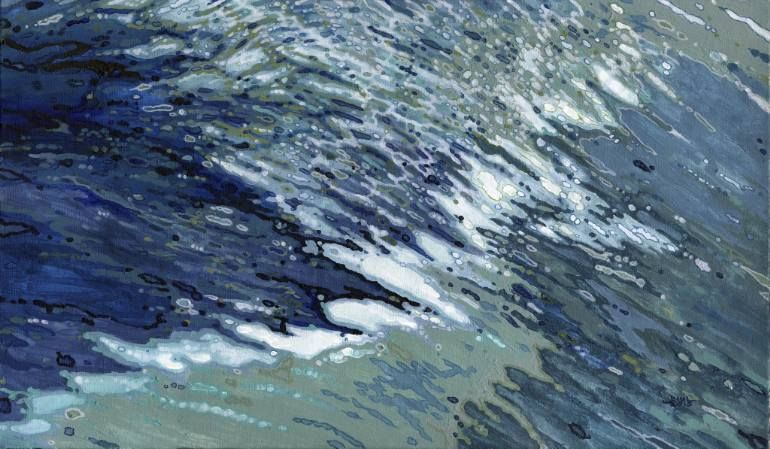 "Saatchi Art Artist Margaret Juul; Painting, ""Cold Atlantic Waves"" #art"