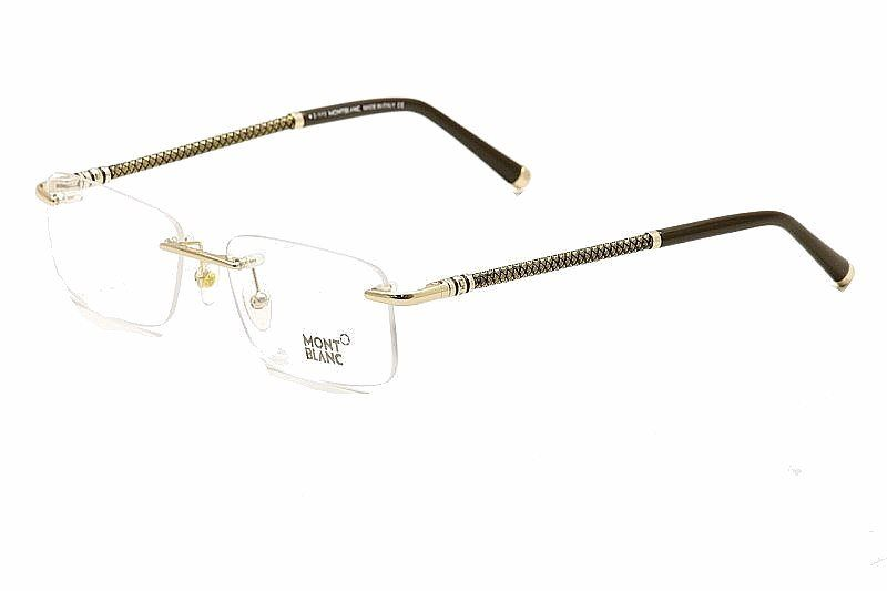 ddb30e2b8ee1 Joylot.com Mont Blanc Men s Eyeglasses MB391 MB 391 Rimless Optical Frame  531292640