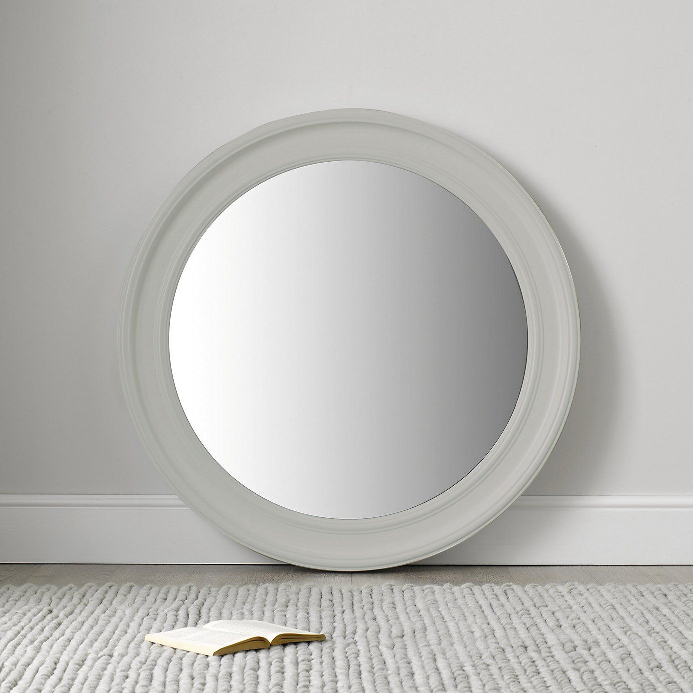 Large Portland Round Mirror   Grey | The White Company