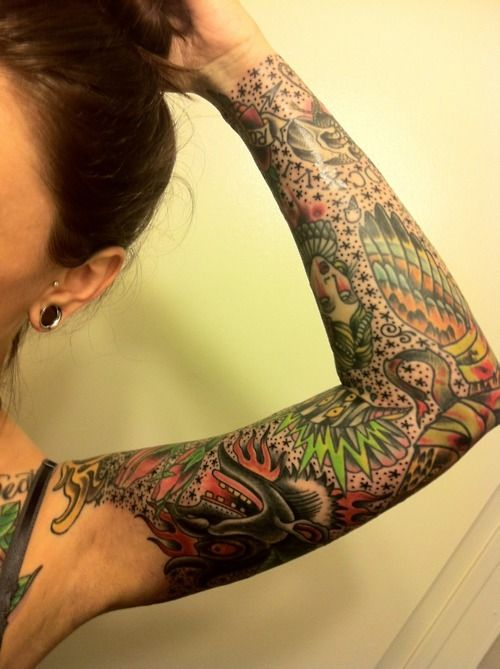 Tattoo Sleeve Filler Ideas For A Woman: I Really Cant Wait To Fill In My Negative Space.