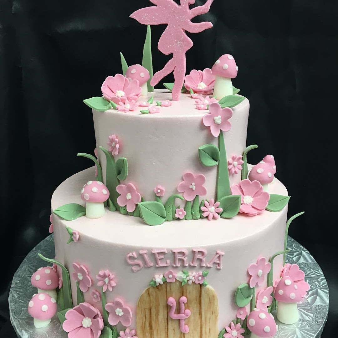A perfectly pink fairy cake sugarbakercakes edibleart fairy