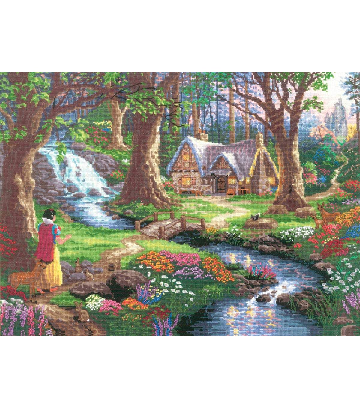 Thomas Kinkade Snow White Discovers The Cottage Counted