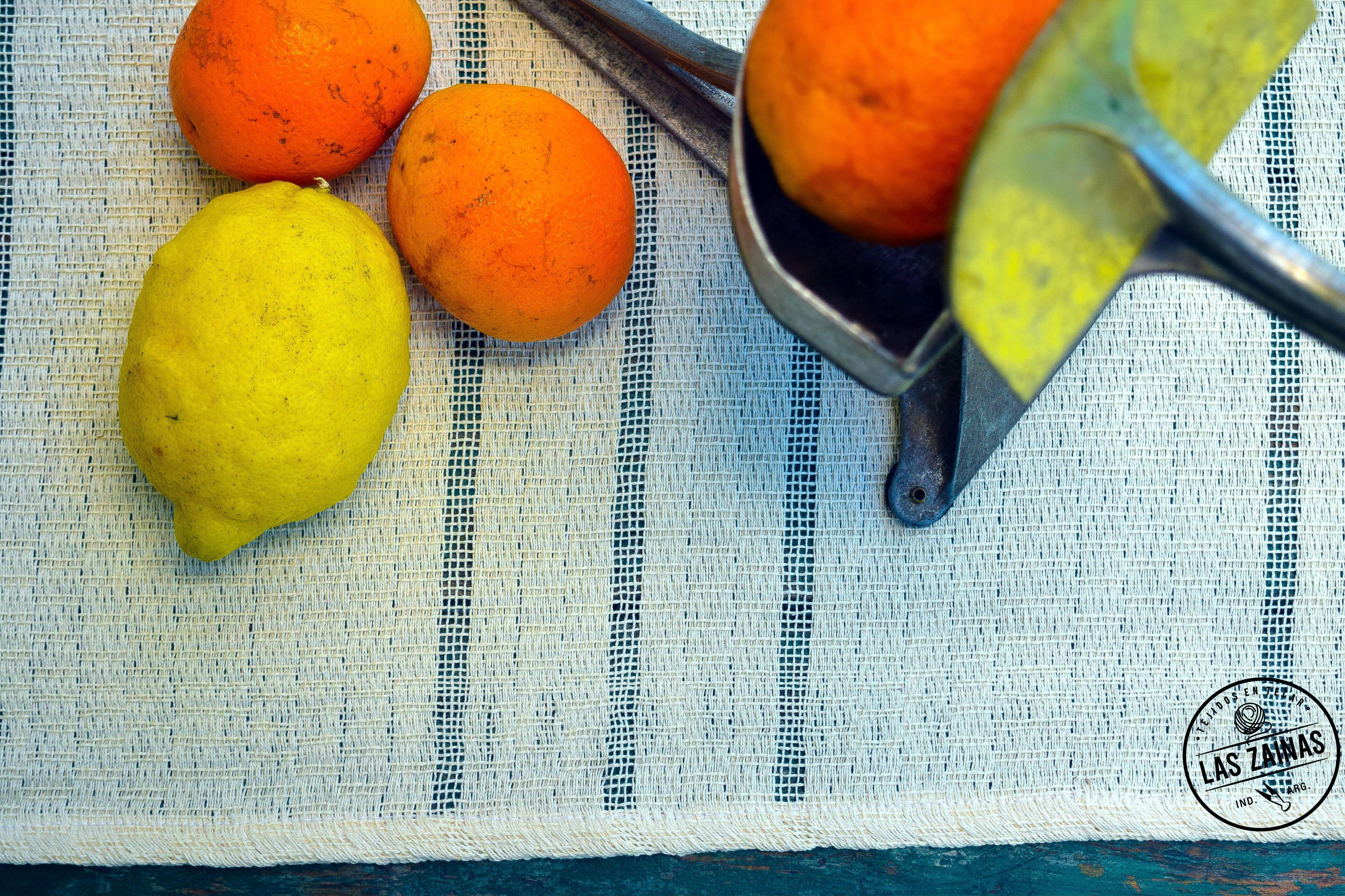 Caminos de hilo tejidos en telar con hilo 100 % algodón