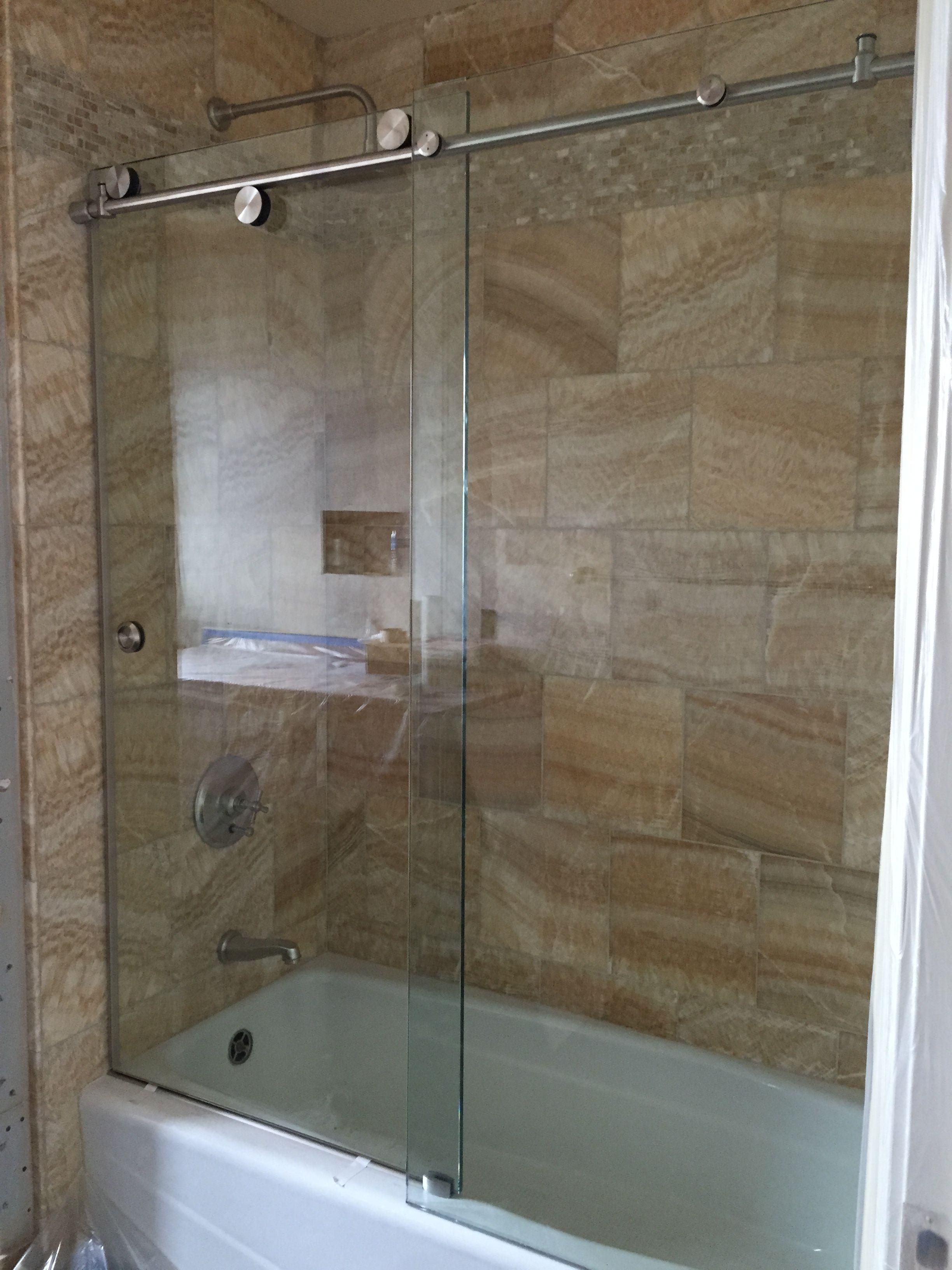 Skyline Series Frameless Glass Shower Enclosure 3 8 Clear